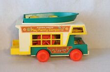 Vintage Fisher Price Little People Play Family Camper #994 Boat Truck and More
