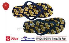 Bundaberg Rum Thongs Flip Flops Bogan Accessory Size 6 26cm Unisex BNWOT Bundy