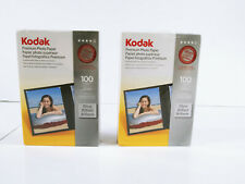 "Kodak Premium Photo Paper 100 4"" x 6"" Sheets Instant Dry Lot Of 2"