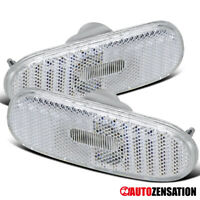 For 2000-2005 Toyota Celica MR2 Spyder Clear Side Marker Lights Bumper Lamps