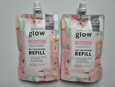 2 x Australian Glow 1 Hour Ultra Dark Self Tan Mousse 200ml REFILL Eco Friendly