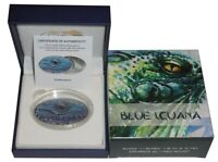 Niue 2 Dollar 1 Oz Silber Blue Iguana XL-Ultra-High-Relief 2012 Antik - Finish