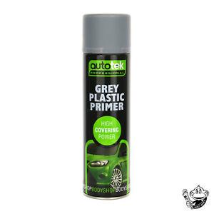 GREY PLASTIC PRIMER AEROSOL - AUTOTEK GREY 500ML