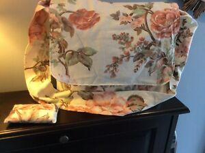 Handmade Messenger Bag With Matching Tissue Holder - Pink And Green Floral