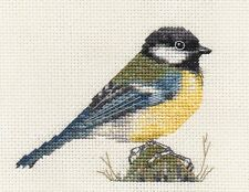 GREAT TIT~ Garden Bird ~ Full counted cross stitch kit with all materials