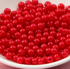 Lot 50 Perles imitation Brillant 4mm Rouge Creation Bijox, Collier ...
