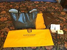 * * * Goyard * * * Authentic Black Chevron Coated Canvas St Louis PM Tote Handba