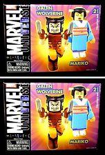 Gaijin Wolverine and Mariko Set of 2 X-Men Marvel miniMates + BONUS extra set