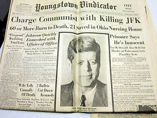 J. F. Kennedy assassination-Youngstown Vindy headlines 11-22 to 12-1 + Look mag
