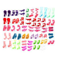 80pcs Mixed Different High Heel Shoes Boots for  Doll Dresses Clothes TEUS