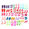 80pcs Mixed Different High Heel Shoes Boots for  Doll Dresses Clothes TEJB