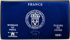 F5000.38 - COFFRET FLEURS DE COINS - FRANCS - 1981 - 1 centime à 10 francs