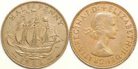 1953 to 1967 Elizabeth II Bronze Halfpenny Your Choice of Date  / Year Multibuy