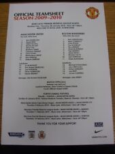 28/01/2010 Manchester United Reserves v Bolton Wanderers Reserves [At Altrincham