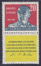 Germany DDR 466 MNH 1959 Johannes R. Becher Writer with Label