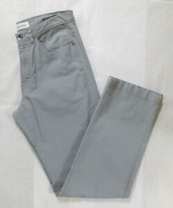 Calvin Klein Light Gray Micro Corduroy 100%Cotton Straight Leg Pants 30/32