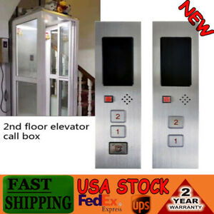 2-Floors Elevator Push Button Hall Station Call Display Plate Panel Stainless