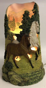 Horse Table Lamp Night Light Horse Home Decor Resin Equestrian Riding Western