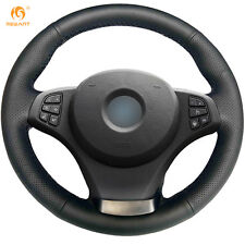 DIY Leather Steering Wheel Cover for BMW E83 X3 2003-2010 E53 X5 2004-2006 #0106