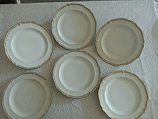 6 assiettes plates  Porcelaine de LIMOGES  Lot 1/2