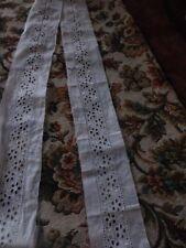 1m,35x6cm,coton entre_ deux brodeie anglaise ,idéal pour rajouts linge ancien