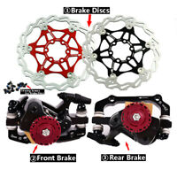 MTB Bicycle Brake Disc Cycling Caliper Set And Brake Disc 160/180mm with 6 Bolts