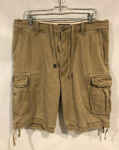 Abercrombie & Fitch Vintage Fatigues Cargo Shorts Men's Sz 34 Brown Heavyweight