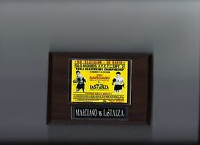ROCKY MARCIANO vs ROLAND LASTARZA POSTER PLAQUE BOXING PHOTO PLAQUE