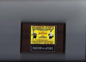 ROCKY MARCIANO vs ROLAND LASTARZA POSTER PLAQUE BOXING PHOTO PLAQUE
