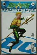 AQUAMAN REBIRTH #1 VARIANT COVER (2016) FIRST Printing - DC US - Bagged Boarded
