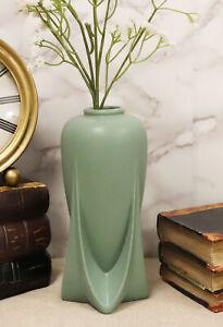 Teco Art Pottery by Frank Lloyd Wright Satin Green Rocket Feature Vase Decor