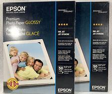 "NEW 2 Packs Epson Premium Glossy Photo Paper 8.5""x11"" (88 Sheets) **See Desc**"