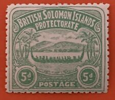 British Solomon Islands 1907 5d MH Stamp SG5 CV £60