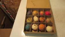 Antique Mica Covered Fruit Christmas Tree Ornaments- 12