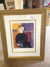 PICASSO SERIGRAPH SIGNED COLLECTION DOMAINE PICASSO 21/500  Red Armchair
