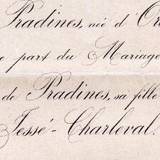 Gabrielle De Fornier De Carles De Pradines Aix 1876 Antoine De Jessé-Charleval