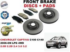 für Chevrolet Captiva C100 C140 2006- > FRONT 296mm Set Bremsscheiben+BELÄGE SET
