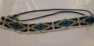Native American Style Seed Bead Headband