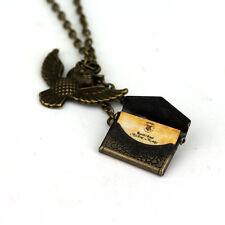 Harry Potter Necklace Post Owl Hogwarts Acceptance Letter Delivered Chain