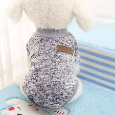8 Color Pet Dog Puppy Classic Sweater Fleece Sweater Clothes Warm Sweater Winter