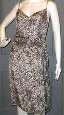 NWT floral BETH BOWLEY black white 100% SILK cocktail dress sz 6 strappy NEW