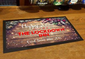 Christmas Personalised Bar mat / runner Wood