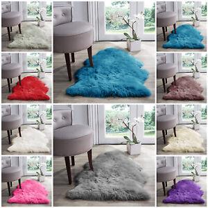 Fluffy Faux Fur Sheepskin Rug Non Slip Washable Large Floor Carpet Rugs Mat