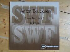 Bruckner-Messe Nr.3 f-moll-2er Lp-Yaron,Höffgen,Jerusalem,Carmeli-SWF