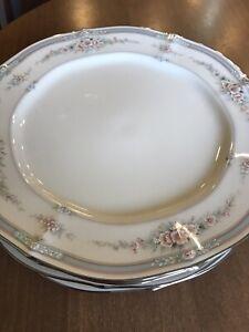 "Noritake Ivory China Rothschild 10 1/2"" Dinner Plates set of 4"