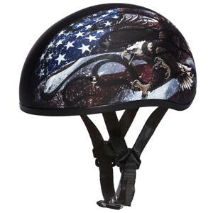 Motorcycle Half Helmet (Skull Cap) DOT Approved
