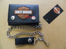 Harley-Davidson Geldbörse Leder Portemonnaie Geldbeutel Wallet Kette Skull 4721