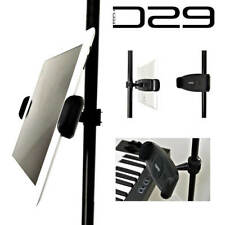 iPad Pro 12.9 Air 9.7 mini Tablet Holder Music Microphone Mic Stand Clamp Mount
