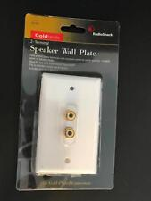 RadioShack 24K Gold-Plated 2-Terminal Wall Plate Speaker 40-982 NEW FREE S/H