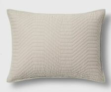 Project 62 + Nate Berkus Geo Stitch Pillow Sham King, Neutral